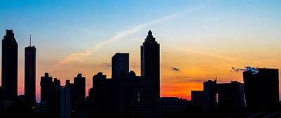 Sunset In Atlanta Art Print
