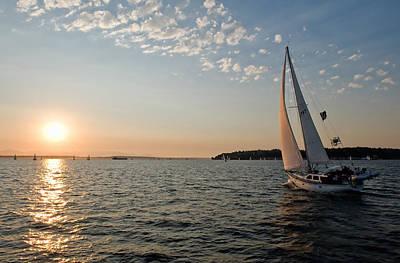Sunset Sail Art Print by Tom Dowd