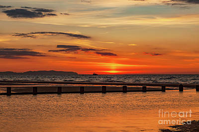 Photograph - Sunset Seascape by Adrian Evans