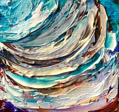Painting - Surf by Fred Wilson
