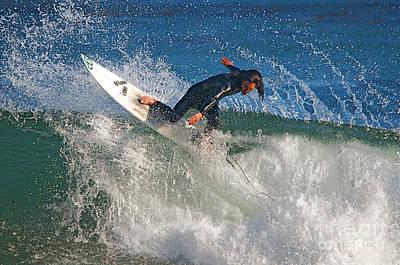 Surfer Art Print by Marc Bittan