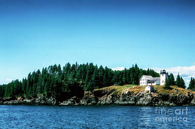 Penobscot Bay Digital Art - Swans Island Lighthouse by Thomas R Fletcher