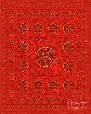 Mayan Painting - Symbols Of The Occult by Pierre Blanchard