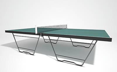 Competing Digital Art - Table Tennis Table by Allan Swart