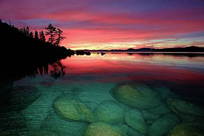 Photograph - Tahoe Twilight by Sean Sarsfield