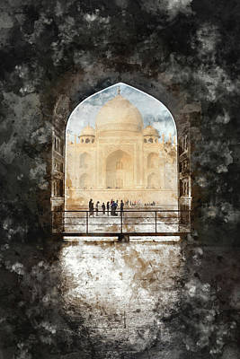 Photograph - Taj Mahal In The Morning by Brandon Bourdages