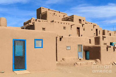 Winter Animals Rights Managed Images - Taos Pueblo Royalty-Free Image by Richard Smith