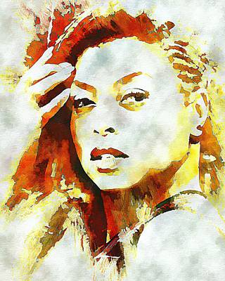 Digital Art - Taraji P Henson by Lynda Payton