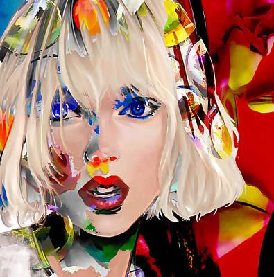 Taylor Swift Digital Art - Taylor Swift by Love Art