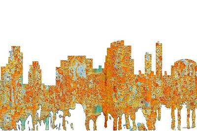 Digital Art - Tempe Arizona Skyline by Marlene Watson