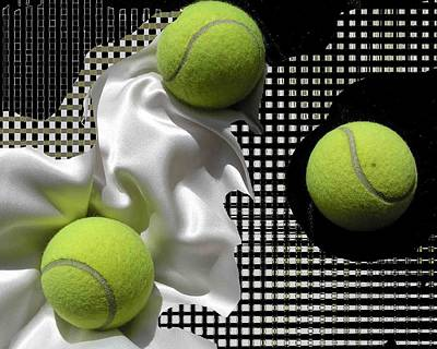 3 Tennis Balls Art Print by Evguenia Men