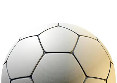 Inlay Digital Art - Textured Soccer Ball Closeup by Allan Swart
