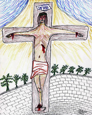 Christian Sacred Drawing - Thank  God  For  Good  Friday by Carl Deaville