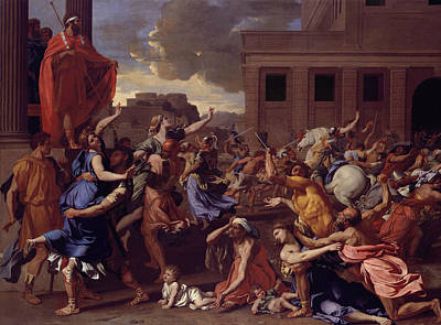 Classicism Painting - The Abduction Of The Sabine Women by Nicolas Poussin