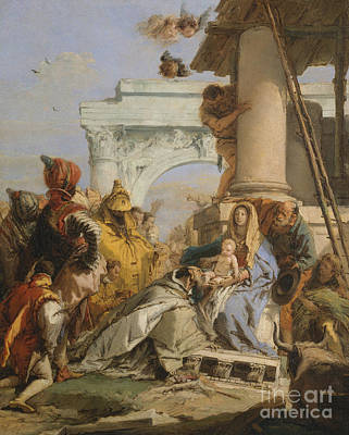 Melchior Painting - The Adoration Of The Magi by Giovanni Battista Tiepolo
