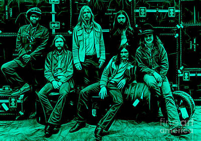 Gregg Allman Mixed Media - The Allman Brothers Collection by Marvin Blaine