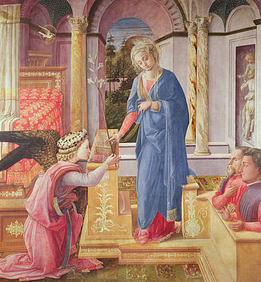 Archangel Painting - The Annunciation by Fra Filippo Lippi