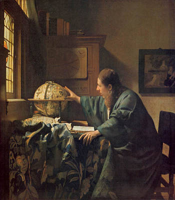 The Astronomer Art Print by Johannes Vermeer