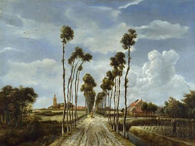 Meindert Hobbema Painting - The Avenue At Middelharnis by Meindert Hobbema