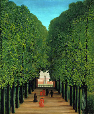 Cityscape Painting - The Avenue In The Park At Saint Cloud by Henri Rousseau
