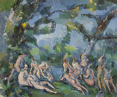 Bathing Painting - The Bathers by Paul Cezanne