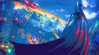Batman Digital Art - The Batman Dark Knight Art by Egor Vysockiy