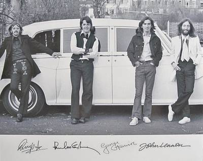 The Beatles Art Photograph - The Beatles by Donna Wilson
