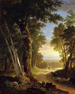 Beech Painting - The Beeches by Asher Brown Durand
