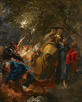 Arrest Painting - The Betrayal Of Christ by Anthony van Dyck
