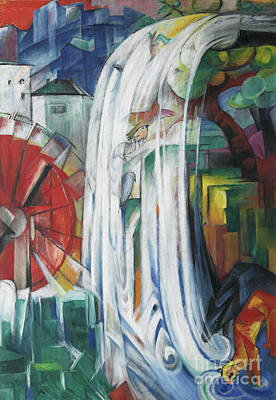 Bewitched Painting - The Bewitched Mill by Franz Marc