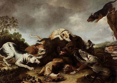 Painting - The Boar Hunt by Frans Snyders