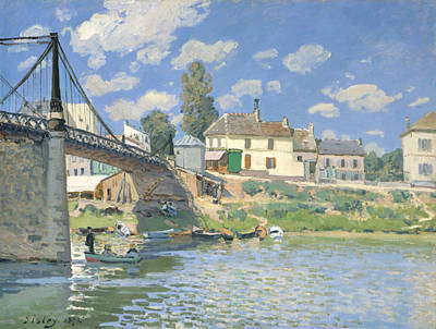 Painting - The Bridge At Villeneuve-la-garenne by Alfred Sisley