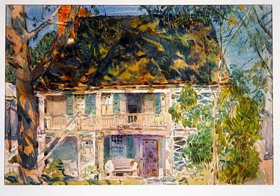 Charming Town Painting - The Brush House by Childe Hassam