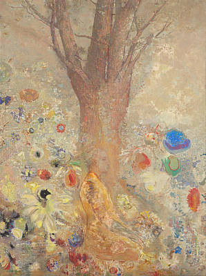 Painting - The Buddha by Odilon Redon