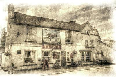 Photograph - The Bull Pub Theydon Bois Vintage by David Pyatt
