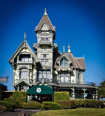The Carson Mansion Art Print by Mountain Dreams