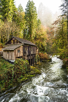 The Cedar Creek Grist Mill In Washington State. Art Print by Jamie Pham