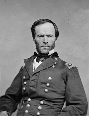 The Civil War. General William Tecumseh Art Print by Everett