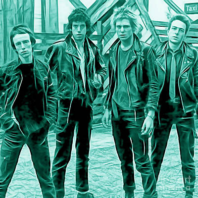 Joe Strummer Mixed Media - The Clash Collection by Marvin Blaine