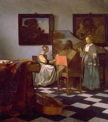 Instrument Painting - The Concert by Johannes Vermeer