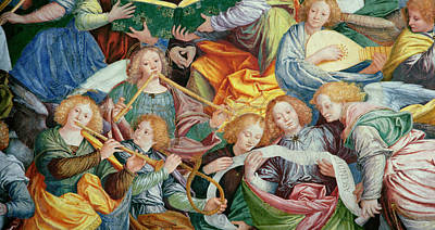 The Heavens Painting - The Concert Of Angels by Gaudenzio Ferrari