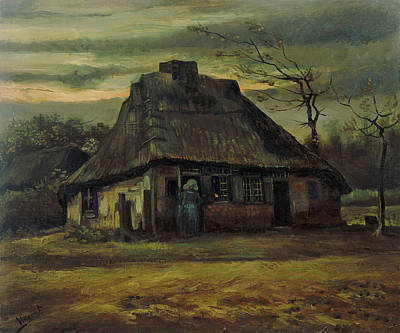 Painting - The Cottage by Vincent van Gogh