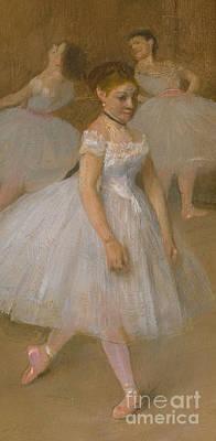 The Dancing Class Art Print by Edgar Degas