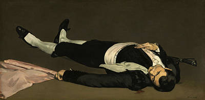 Bull Painting - The Dead Toreador by Edouard Manet