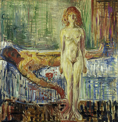 Lying Painting - The Death Of Marat II by Edvard Munch