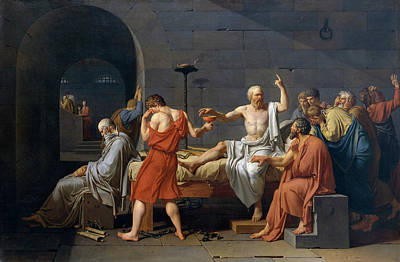 Bedroom Painting - The Death Of Socrates by Jacques-Louis David