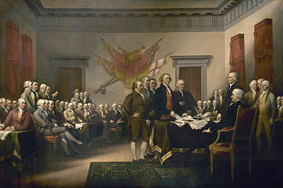 Revolutionary War Of 1776 Painting - The Declaration Of Independence - July 4, 1776 by John Trumbull