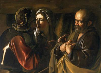 The Denial Of Saint Peter Print by Caravaggio