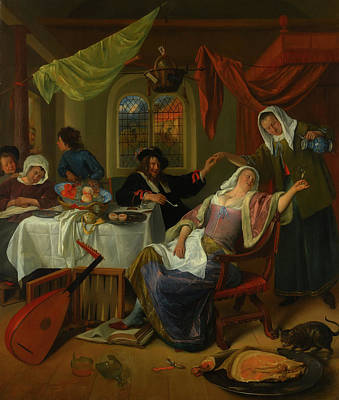 Painting - The Dissolute Household by Jan Steen