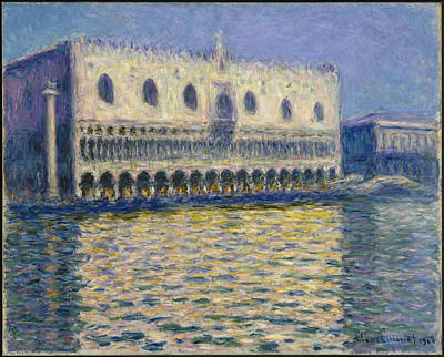 Painting - The Doges Palace by Claude Monet